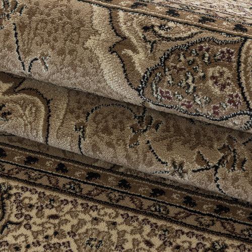 KASHMIR Impression Isfahan Oosters Klassiek Laagpolig Vloerkleed Beige