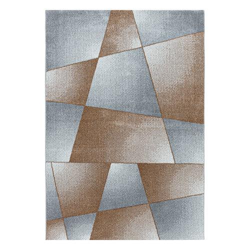RIO Impression Basics Style Laagpolig Effen Vloerkleed Koper / Grijs