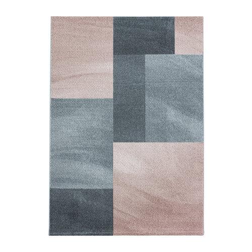 EFOR Impression Mynes Modern Laagpolig Vloerkleed Roze / Grijs