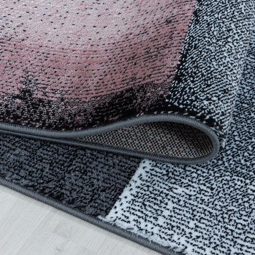 COSTA Impression Marmaris Design Laagpolig Vloerkleed Roze / Grijs