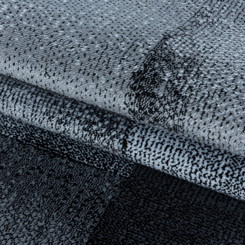 COSTA Impression Marmaris Design Laagpolig Vloerkleed Zwart / Grijs