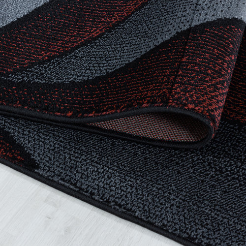 COSTA Impression Flow Design Laagpolig Vloerkleed Rood / Grijs / Zwart