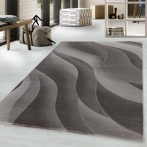 COSTA Impression Flow Design Laagpolig Vloerkleed Bruin