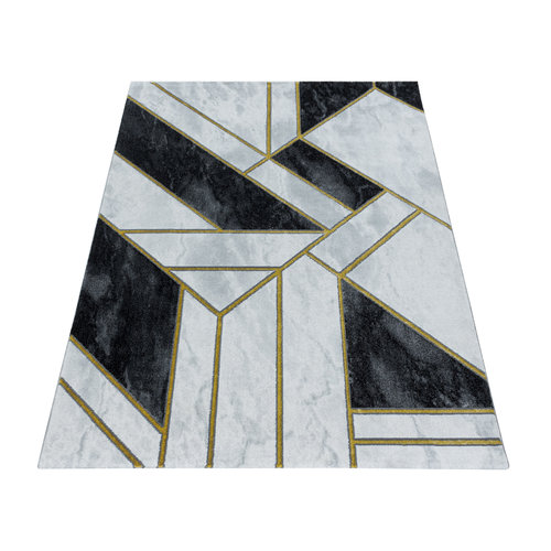 NAXOS Impression Premium Design Laagpolig Vloerkleed Grijs Goud