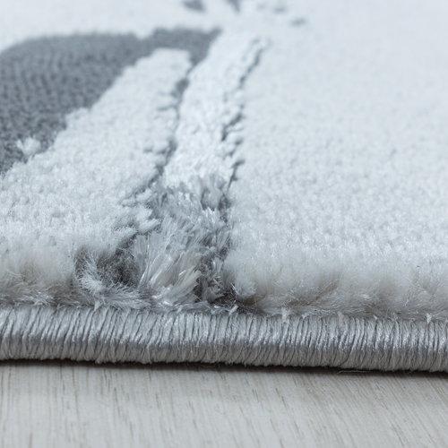 NAXOS Impression Marmer Design Laagpolig Vloerkleed Grijs Zilver