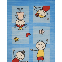 Bambino Friends Kinderkamer Vloerkleed Blauw Laagpolig