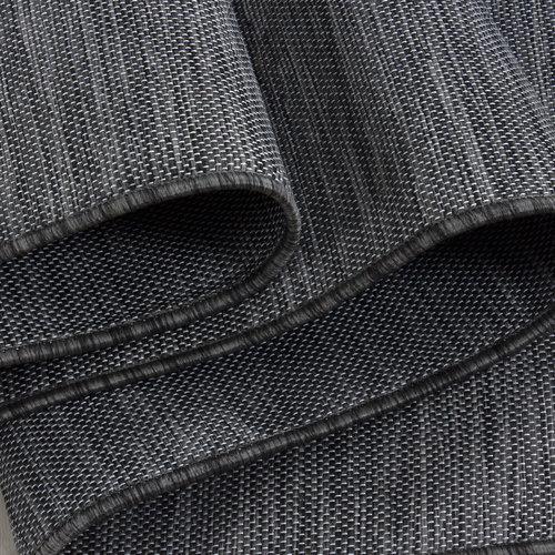 MAMBO Mambo Sisal Binnen en Buiten Vloerkleed Effen Laagpolig Zwart
