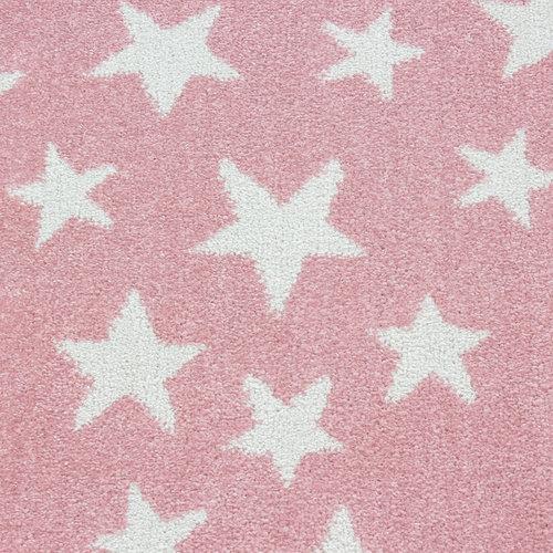 BAMBI Bambi Ster Kinderkamer Rond Vloerkleed Laagpolig Roze