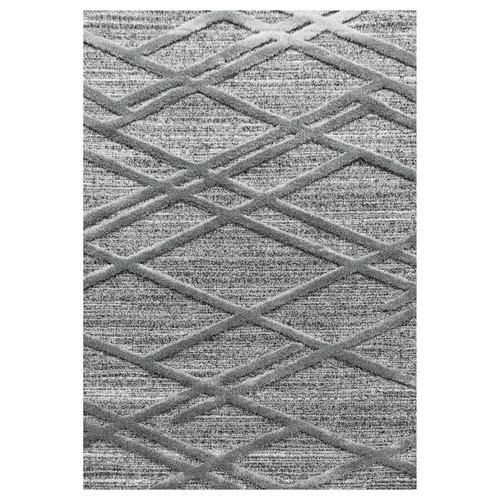 PISA Pisa Modern Design Vloerkleed Laagpolig Grijs