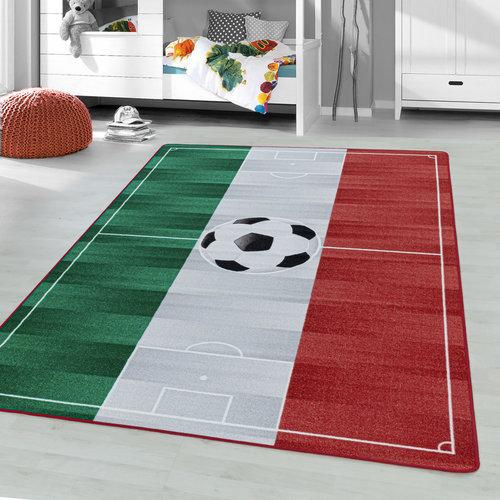 PLAY Kinderkamer Vloerkleed Voetbal Italië Laagpolig