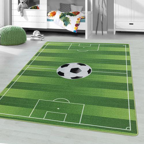 PLAY Kinderkamer Vloerkleed Voetbal Laagpolig Groen