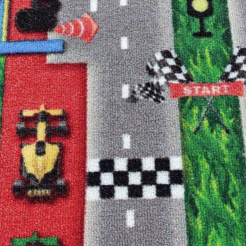 PLAY Kinderkamer Vloerkleed Formule 1 Laagpolig Rood