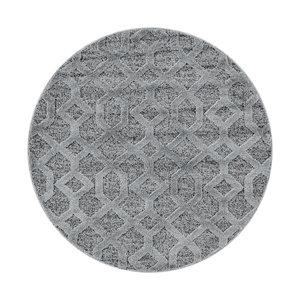 PISA Pisa Modern Design Rond Vloerkleed Laagpolig Grijs