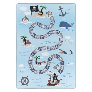 PLAY Kinderkamer Vloerkleed Numbers Laagpolig Blauw