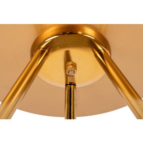 Morisson Design Bijzettafel Rond Morrison 225 Grijs Goud Metaal