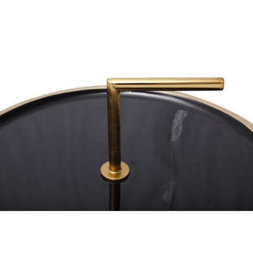 Art Deco Bijzettafel Rond Art Deco 535 Zwart Metaal