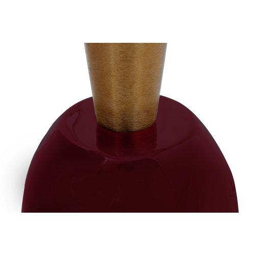 Art Deco Bijzettafel Rond Art Deco 225 Oud Roze Goud Metaal