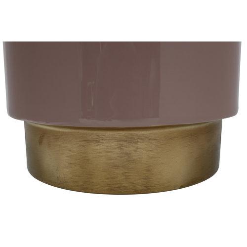 Art Deco Bijzettafel Rond Art Deco 175 Goud Oud Roze Metaal