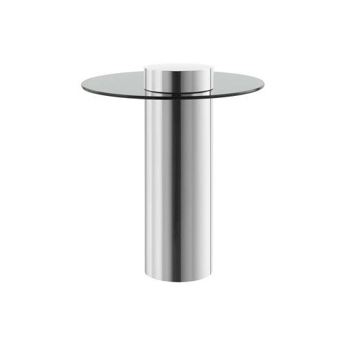 Ontario Bijzettafel Ontario 125 Zilver / Grijs - 46cm (L/T) x 46cm (B) x 50cm (H)