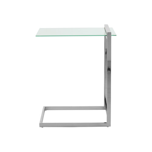 Impression Sidetables Bijzettafel Rechthoek Luciana 225 Zilver Glas RVS