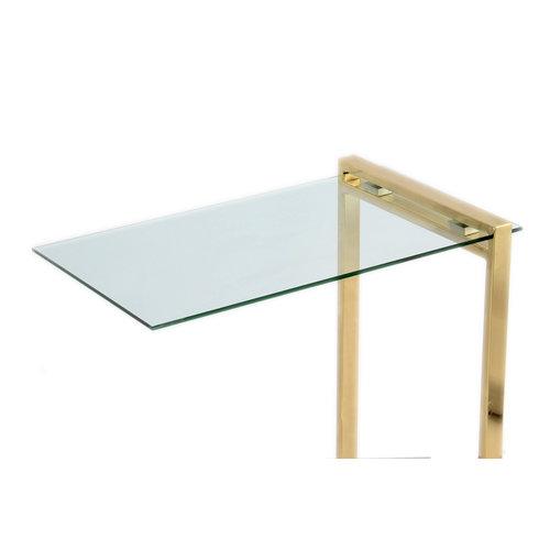 Impression Sidetables Bijzettafel Luciana 225 Goud - 30cm (L/T) x 45cm (B) x 60cm (H)