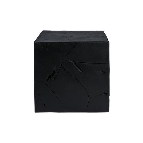Impression Sidetables Bijzettafel Vierkant Blok Radix 525 Zwart Teakhout