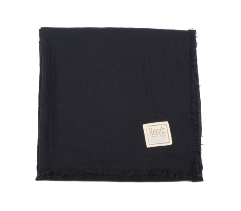 Revelz Sjaal Privilege Dark Navy Blue
