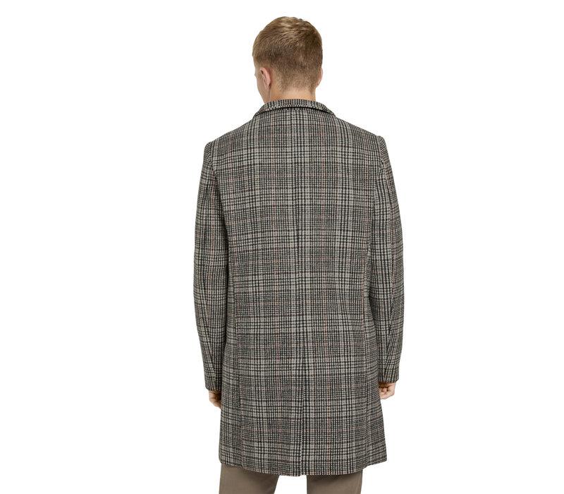 Tom Tailor Denim Modern Woolblend Coat Rust Check