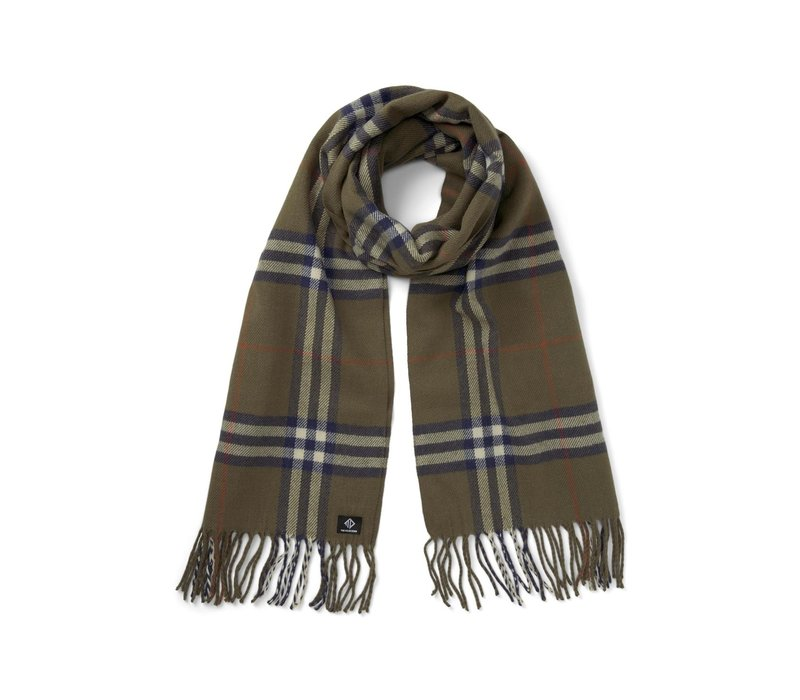 Tom Tailor Denim Scarf Woven Check Olive Navy