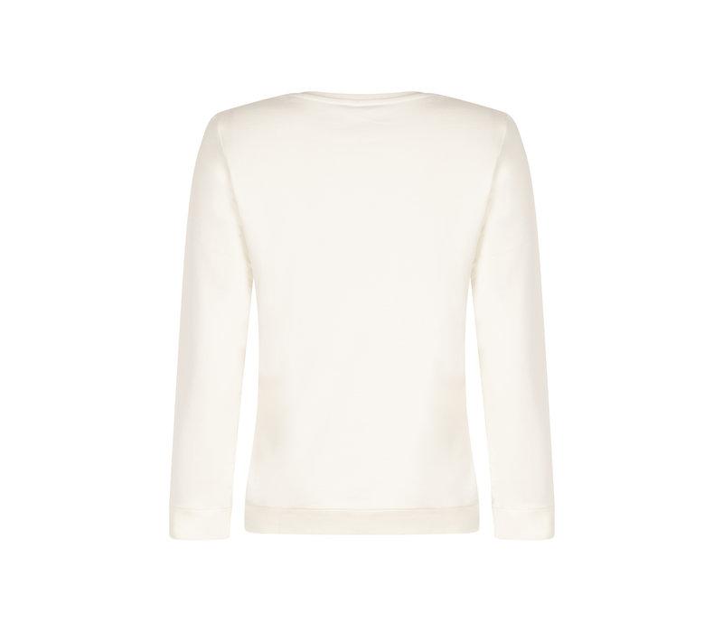 Zoso Sweater Print Off White Black