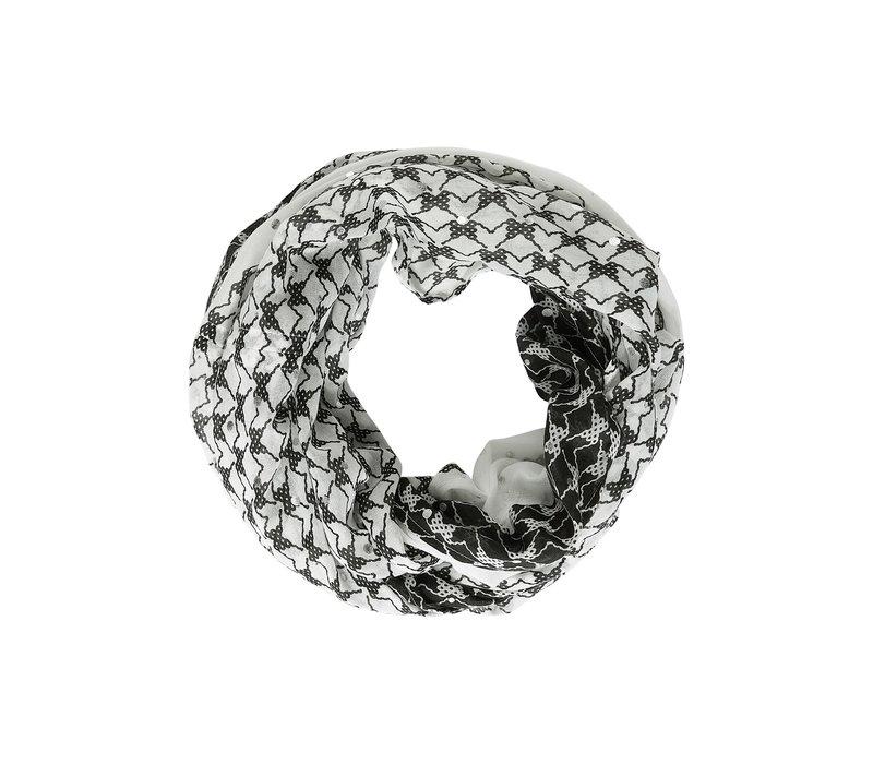 Street One Loop With Foil Print Black