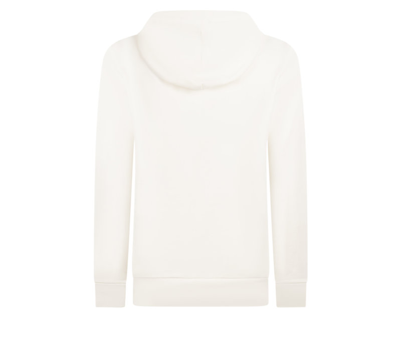 Zoso Hooded Sweater with Print Off White Spice Yellow