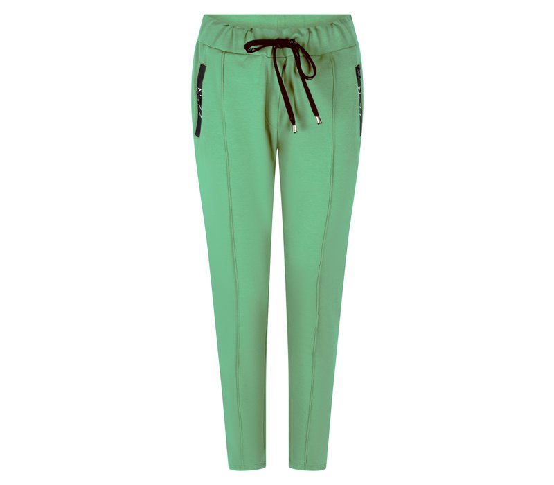 Zoso Sweat Pant with Techzippers Groen