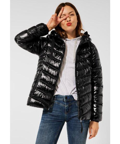 StreetOne Street One Shiny Padded Jacket With Hood