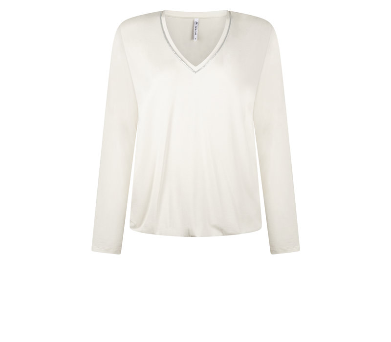 Zoso Luxury Shirt with Piping Off White