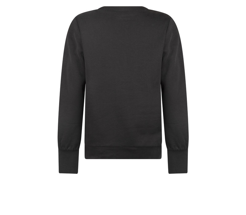 Zoso Sweater with Embroderie Black