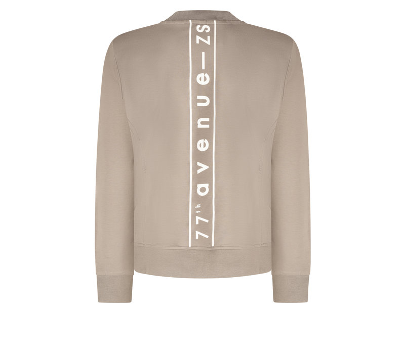 Zoso Sporty Jacket with Techprint Taupe Off White