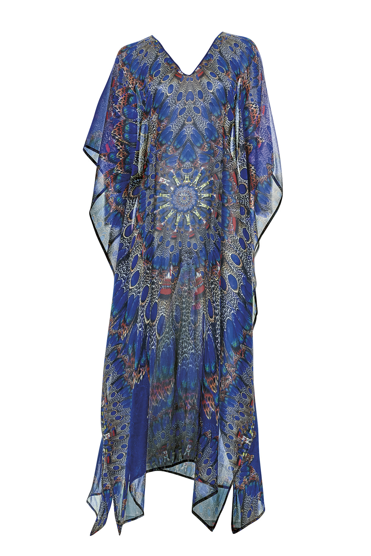 Alya Gold Embellished Off White Wedding Kaftan Maxi Gown