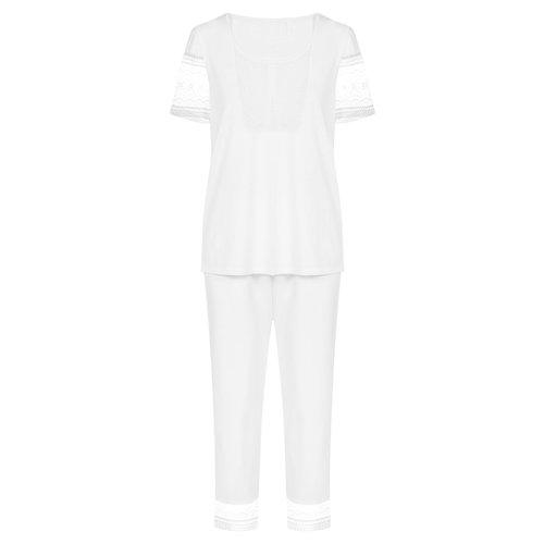 Rösch New Romance Pyjama wit 1203157
