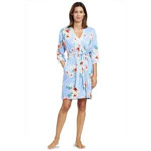 Rösch Night & Loungewear New Romance Kimono blue hibiskus