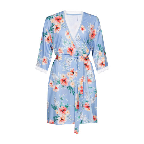 Rösch Night & Loungewear New Romance Nachthemd blue hibiskus 1203101