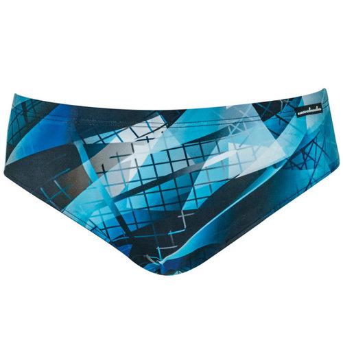 Wavebreaker Zwembroek kort zwart-blauw 55103