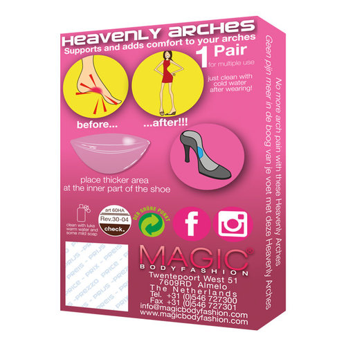Magic Bodyfashion Happy Feet Heavenly Arches clear 60HA