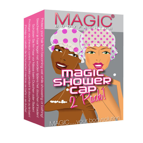 Magic Bodyfashion Shower Cap 2 Pack pink dots 61SC