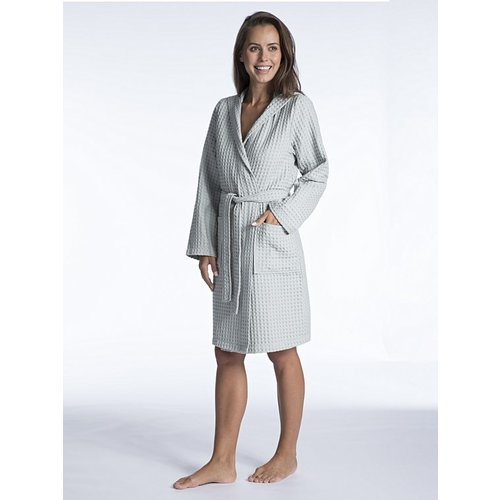 Taubert Nature Ladies Short Hooded Robe 100cm 000624-611