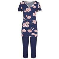 Women Pyjama met capri broek