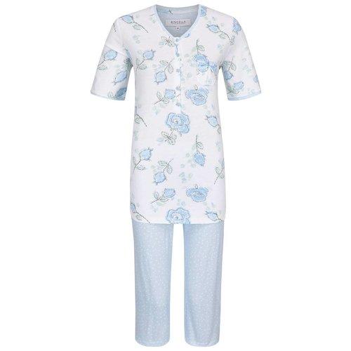 Ringella Women Pyjama Capribroek Rozenpatroon 0211235