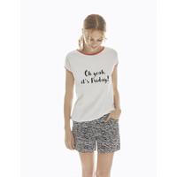 Pyjama Shorts & Short Sleeve Top Cotton