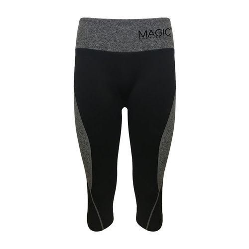 Magic Bodyfashion Active Crop Pants zwart/grijs 70AP