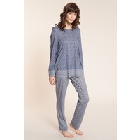 Tweed Loungewear Set Blauw